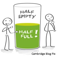 Are you a glass-half-full person? (EverydayIdioms) by Cambridge Dictionary